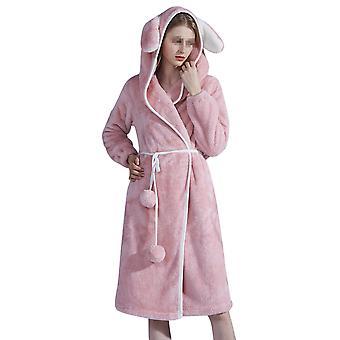 ميل المرأة رداء الحيوان -لينة ثوب خلع الملابس مع هود، الصوف المخلوق كوالا حمام رداء غامض ملابس النوم