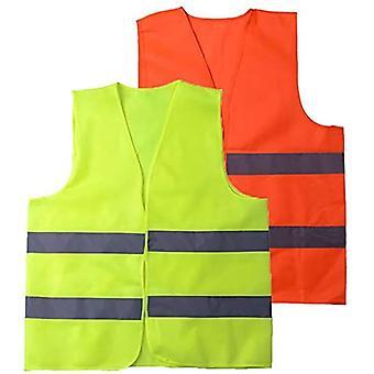 Vesta de siguranță vizibilitate ridicată reflectorizantă, potrivită pentru șoferi, lucrători, grădinari, curățători, verde (pachet de 5)