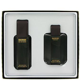 Antonio Puig Quorum-Geschenk-Set 100ml EDT + 100ml Aftershave