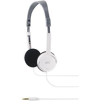 JVC Foldable Light Weight Stereo Headphones - White