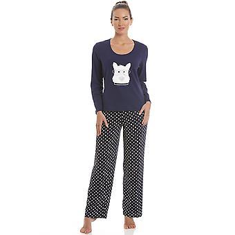 Camille Navy Blue Scotty Dog pyjama's Set