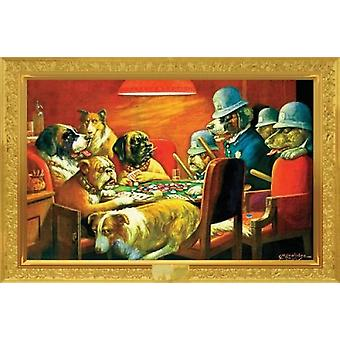 Poker Dogs - Busted - Kelly Poker - Cassius Marcellus Coolidge Poster Poster Print