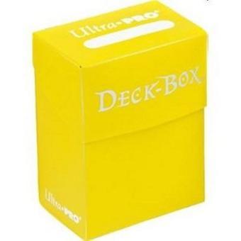 Ultra Pro Deck Box solid beskytter kortene dine-gul