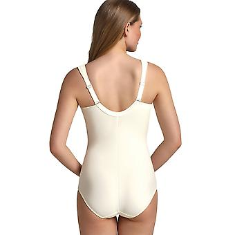 Anita Comfort 3512-612 Women's Havanna Crystal Off White Lace Non-Wired Firm Control Slimming Shaping Corselette