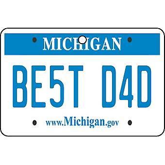 Michigan - beste pappa nummerskilt bil Air Freshener
