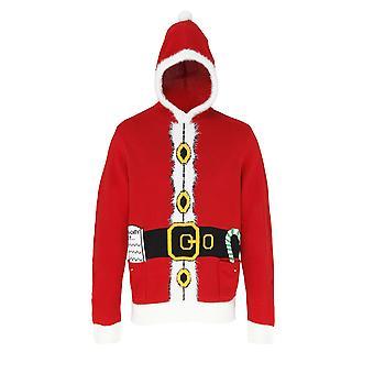 Christmas Shop Adults Unisex Hooded Santa Design Jumper/Sweatshirt