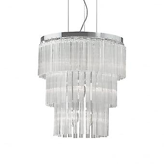 Ideale Lux elegante grote eetkamer 3 Tier kristallen kroonluchter plafondlamp