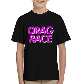Vedä Race Pink Font Lasten t-paita