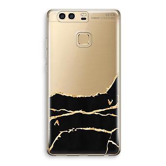 Huawei P9 gennemsigtig sag (Soft) - guld marmor