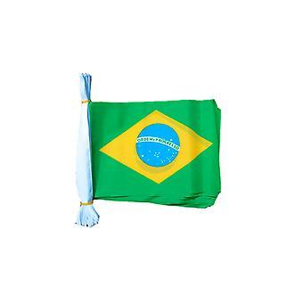 Brazilië vlag Bunting rechthoekige vlaggen 6m lang 20 vlaggen Polyester