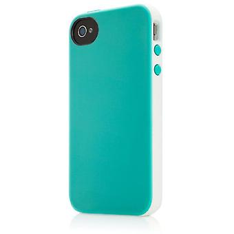 Belkin Hard Cover Case Essential 031 pour iPhone 4 / 4S Blanc Turquoise