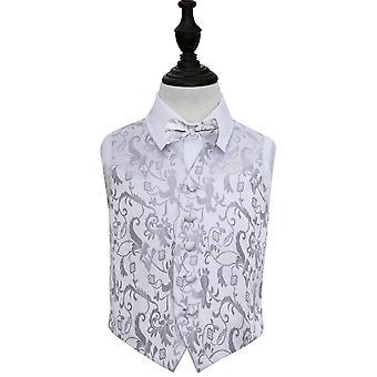 Pancia da sposa floreale d'argento & Set di papillon per ragazzi