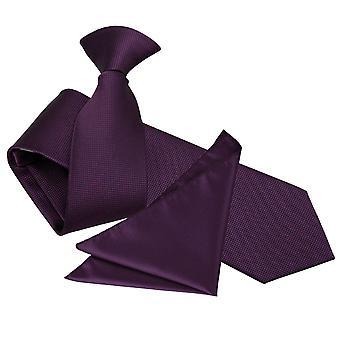 Cadbury violetti kiinteä tarkistaa leike ohut Tie & taskussa neliön asettaa
