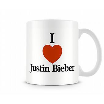 Ik houd van Justin Bieber Gedrukte Mok
