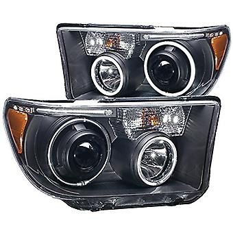 AnzoUSA 111174 Black Projector with Halo Headlight Assembly,(CCFL) - (Sold in Pairs) for Toyota Tundra/Sequoia