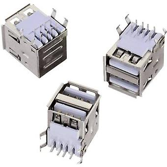 USB-type En vandret 2-vejs WR-COM-stik, vandret montering WR-COM 61400826021 Würth Elektronik Indhold: 1 stk(er)