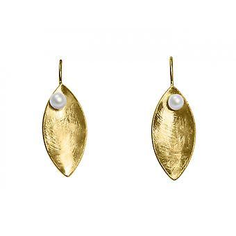 GEMSHINE øreringe Øreringe solid 925 sølv belagt med hvide kulturperler
