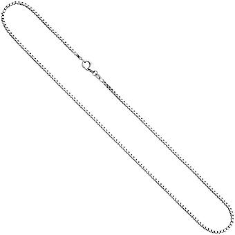 Necklace silver real jewelry GROGO Venetian chain 45 cm