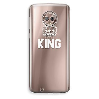 Motorola Moto G6 transparant Case (Soft) - koning zwart