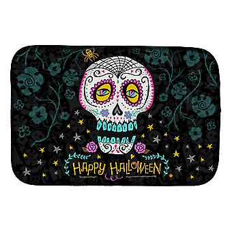 Carolines Treasures  VHA3035DDM Happy Halloween Day of the Dead Dish Drying Mat