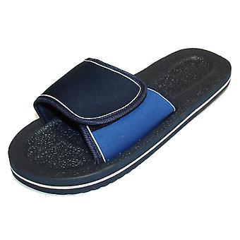 Sandrocks Mens Foam Rubber Touch Closure Waterproof Sandals