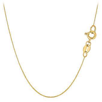 10 k gul Solid Gold spejl boks kæde halskæde, 0,6 mm