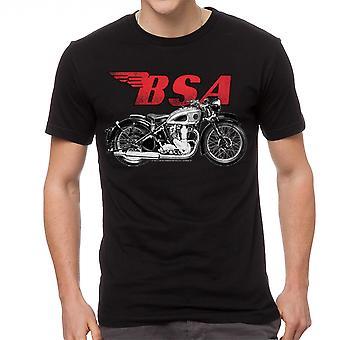 BSA moottoripyörien Classic British miesten musta t-paita