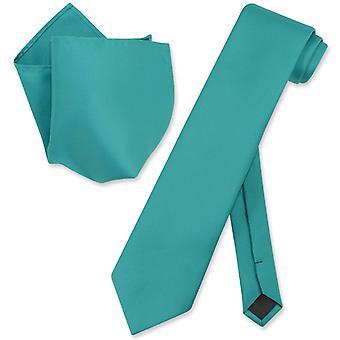 Vesuvio Napoli fast EXTRA lång halsduk näsduk Mens hals slips sätta