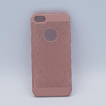iPhone 6 fodral-plain rosa metalltråd mesh titt
