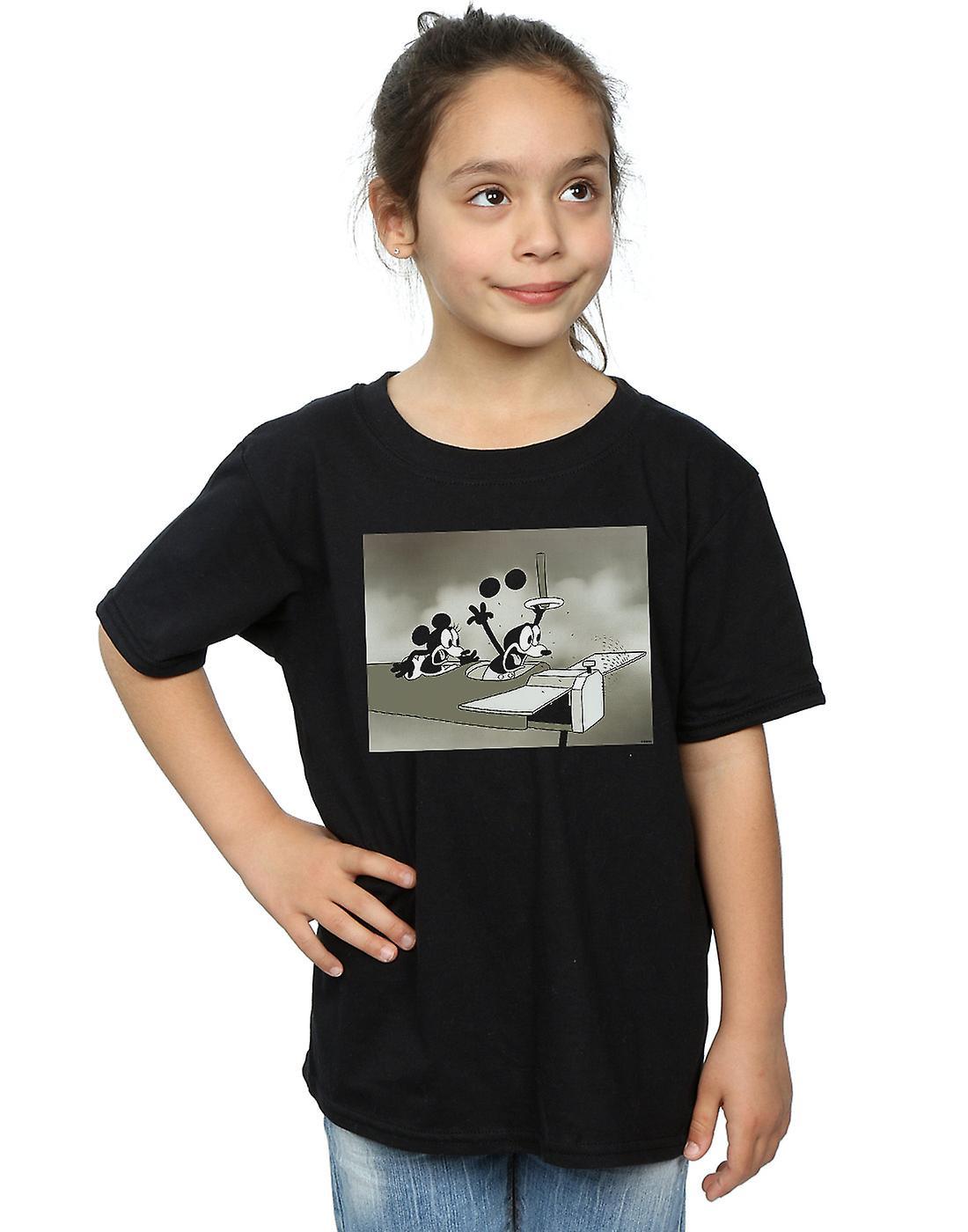Disney Girls Mickey Mouse Crazy Pilot T-Shirt