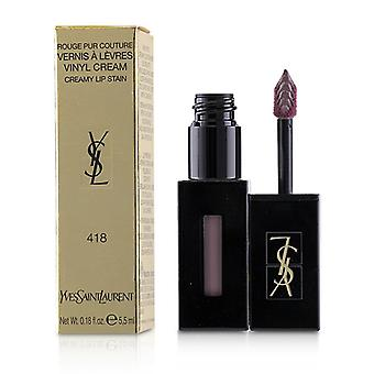 Yves Saint Laurent Rouge pur Couture Vernis A Levres vinil crema cremos pata-# 418 Purple Sound-5.5 ml/0.18 oz
