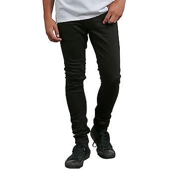 Volcom 2X4 Tapered Skinny Fit Jeans in Ink Black