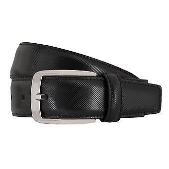 MIGUEL BELLIDO clasico belts men's belts leather belt black 7686