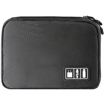 Bag for storing cables and electronics accessories-Black
