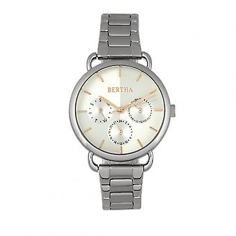 Bertha Gwen Bracelet Watch w/Day/Date - Silver