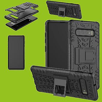 Para Samsung Galaxy S10 plus G975F 6.4 polegadas híbrido caso 2 pedaço SWL exterior saco preto capa case proteção