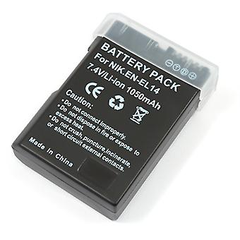 فك بطارية ليثيوم أيون EN-EL14 تماما ل D5100 نيكون D3100 D3200 & COOLPIX P7000 P7100 P7700 ENEL14