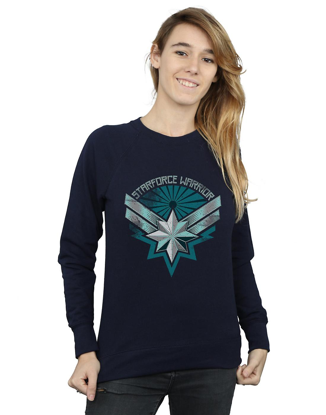 Marvel Women's Captain Marvel Starforce Warrior Sweatshirt