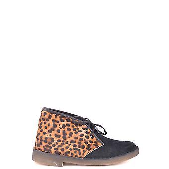 Clarks Ezbc095014 Donne's Leopard Suede Stivali alla caviglia