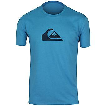 Quiksilver Mens Mountain Wave T-Shirt - Heather Aqua/Navy