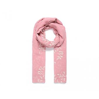 Intrigue Womens/Ladies Embroidered Leaf Scarf