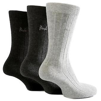 Pringle Laird Socks 3 Pack Charcoal Grey Mix