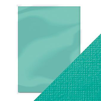 Craft Perfect by Tonic Studios A4 Weave Textured Card 10pk Ocean Blue