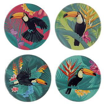 Puckator Toucan Party Set of 4 Coasters