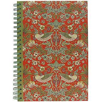 JOE DAVIES Note Pad LP71590 Red With Strawberry Thief Design