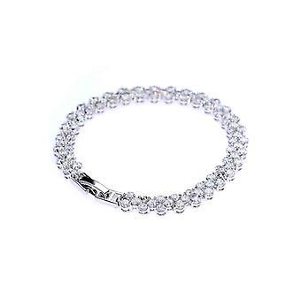 A Girl's Best Friend Tennis Bangle Bracelet, Zircon