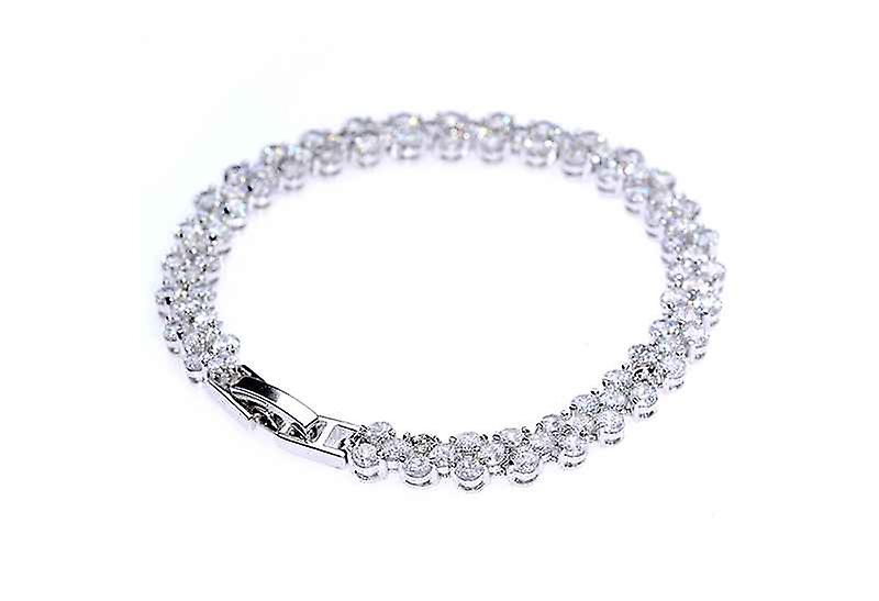 A Girl's Best Friend Tennis Bangle Bracelet, Zircon