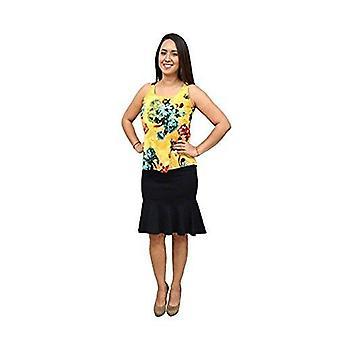 Dbg women's sleeveless scoop neck polyester blouse