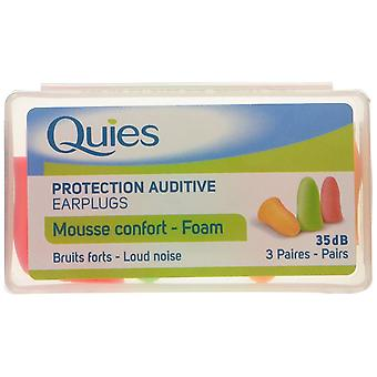 Quies Soft FOAM Ear Plugs - 3 Pairs