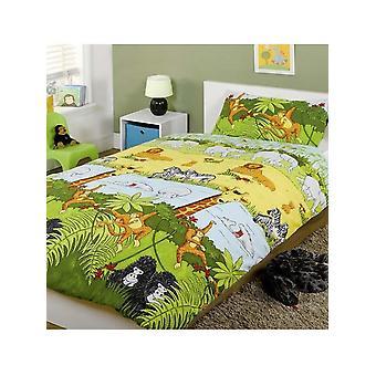 Jungle Animals Duvet Cover & Pillowcase Set